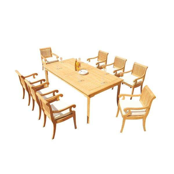 Rosecliff Heights Massenburg 9 Piece Teak Dining Set Wayfair