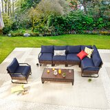 Torreys Outdoor 7 Piece Sofa Seating Group with Cushions by Red Barrel Studio®
