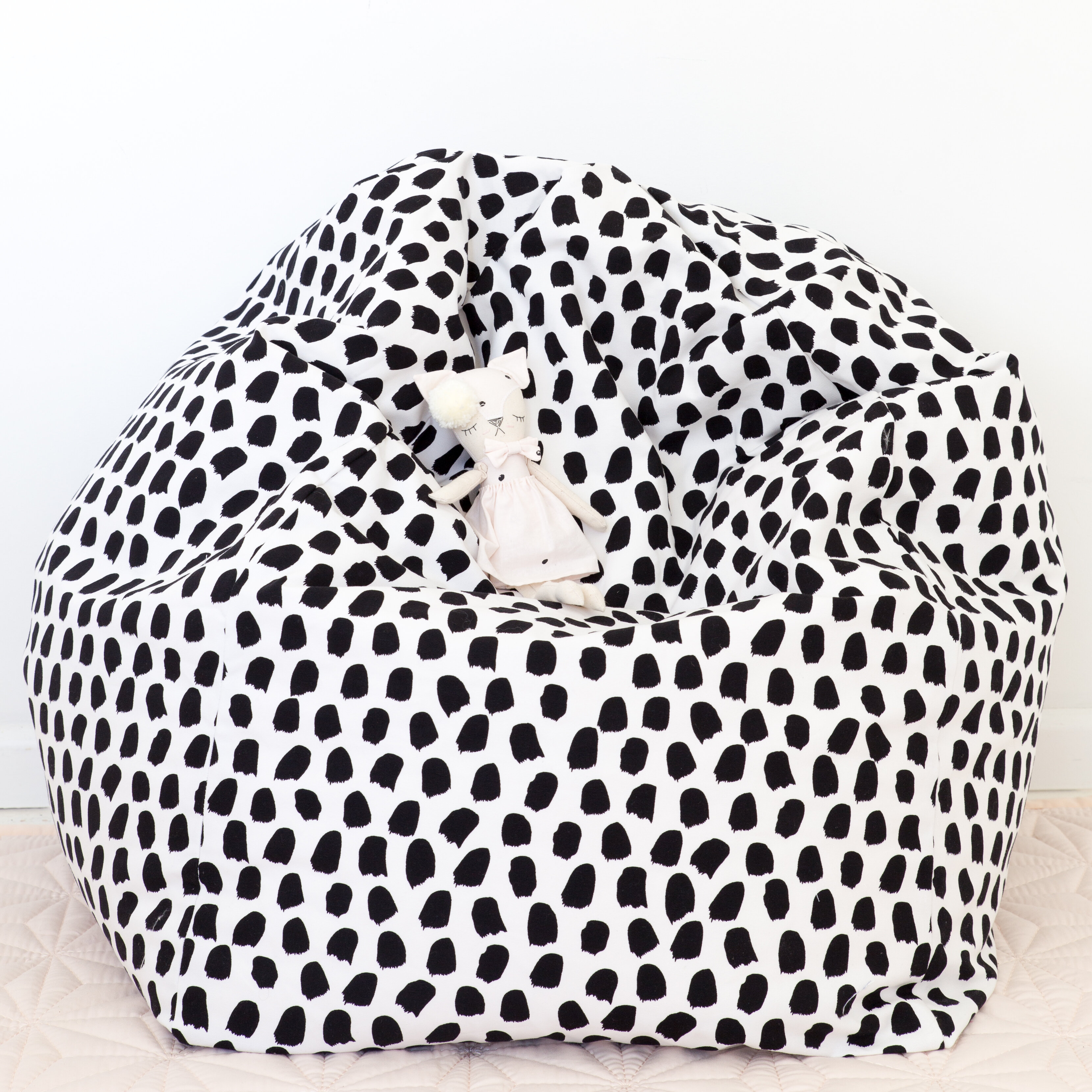 Isabelle Max Splotches Small 100 Cotton Bean Bag Cover Wayfair