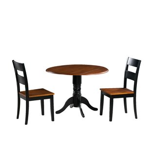 Chesterton Traditional 3 Piece Solid Wood Dining Set