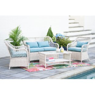 Choy 4 Piece Sofa Seating Group with Cushions