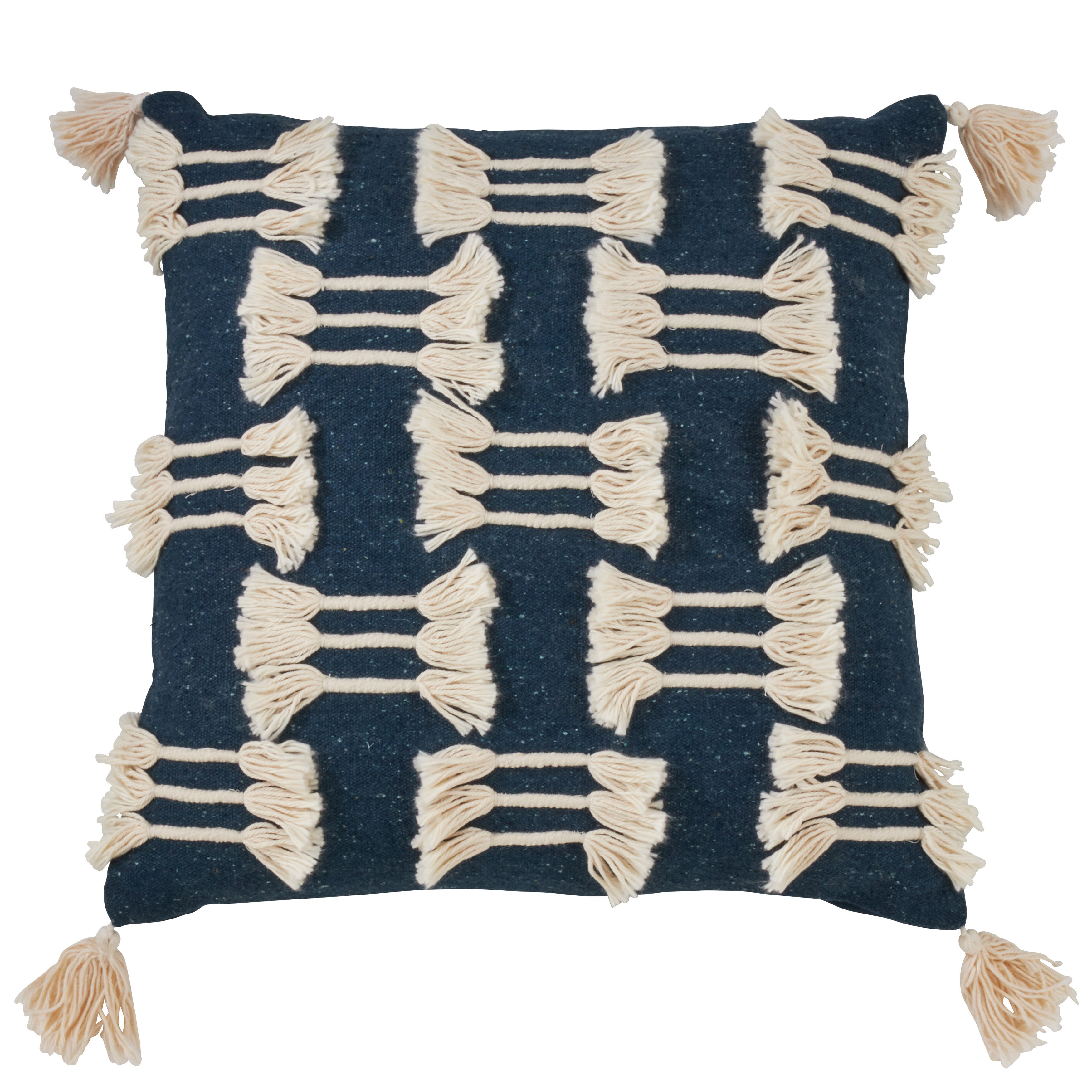 Ju-Ju Bussa Pillow cover embroidered stripe Spark Modern pillow ON BOTH SIDES