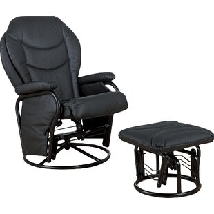 Brentwood Swivel Glider and Ottoman
