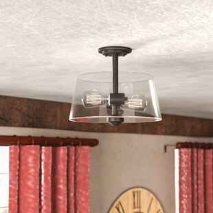 Clayton 2-Light Drum/Cylinder Semi Flush Mount