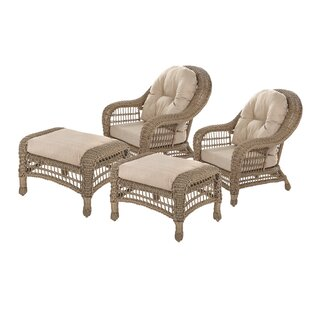 Dennard Outdoor Garden 4 Piece Seating Group with Cushions