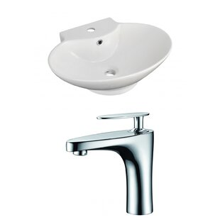 Above Counter Ceramic Oval Vessel Bathroom Sink with Faucet and Overflow By Royal Purple Bath Kitchen