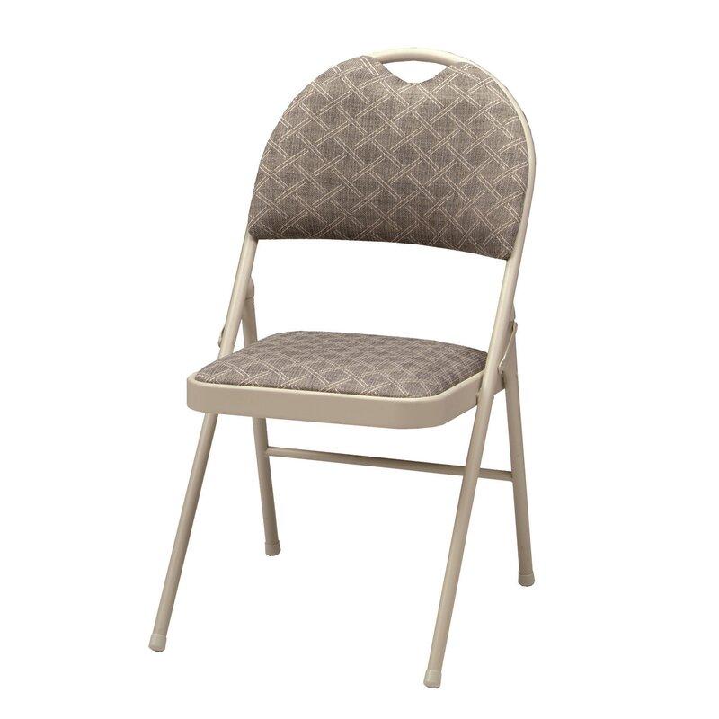 Meco Double Fabric Padded Folding Chair Reviews Wayfair