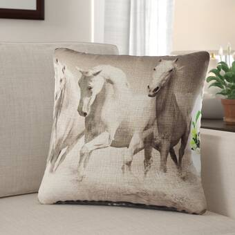 Manual Woodworkers Weavers Advice From A Horse Throw Pillow Reviews Wayfair