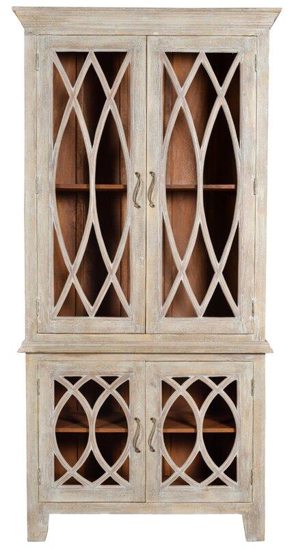 One Allium Way Pinner Glass Tall 4 Door Accent Cabinet Reviews