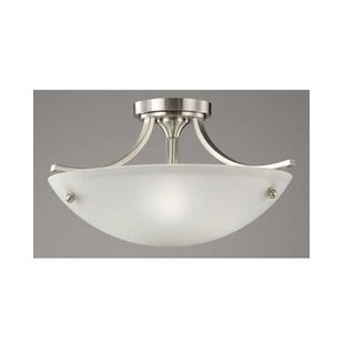 Ducharme 3-Light Semi Flush Mount by Winston Porter