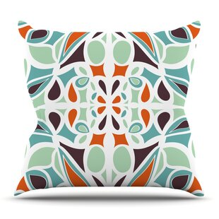 Stained Glass By Miranda Mol Outdoor Throw Pillow by East Urban Home