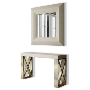 Clemens Console Table And Mirror Set by Brayden Studio