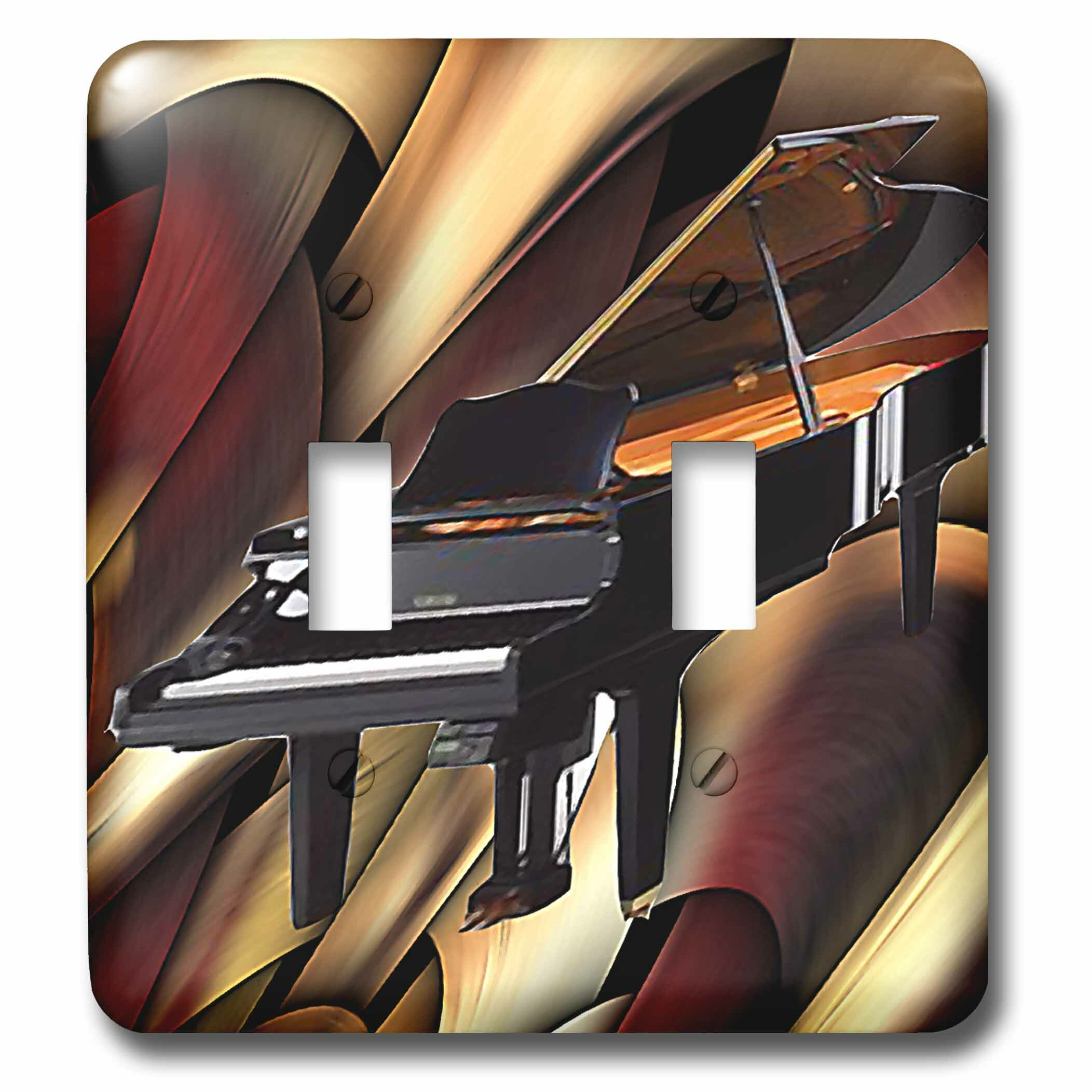 3drose Grand Piano Abstract 2 Gang Toggle Light Switch Wall Plate Wayfair