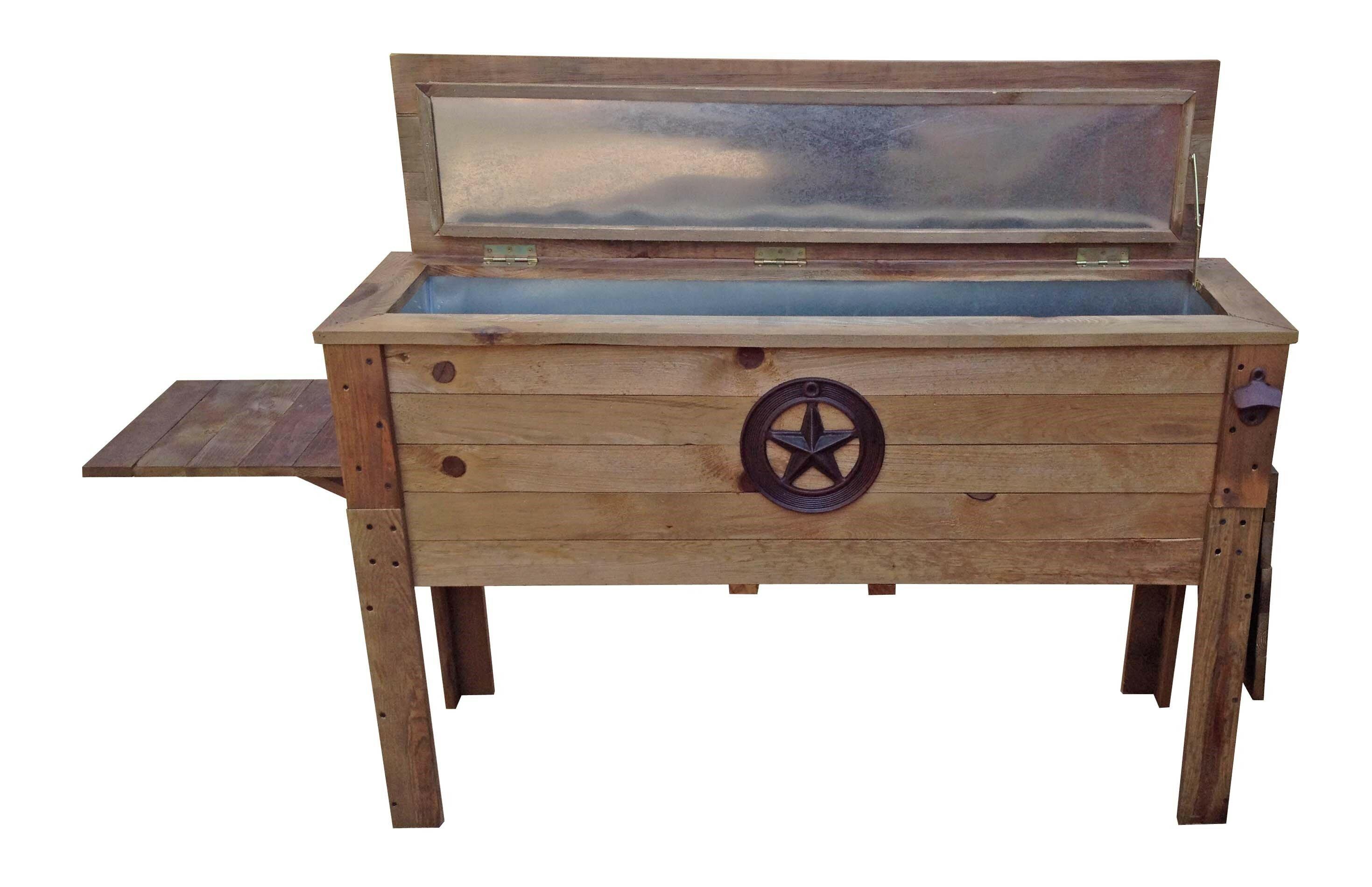87 Qt Decorative Outdoor Wooden Cooler