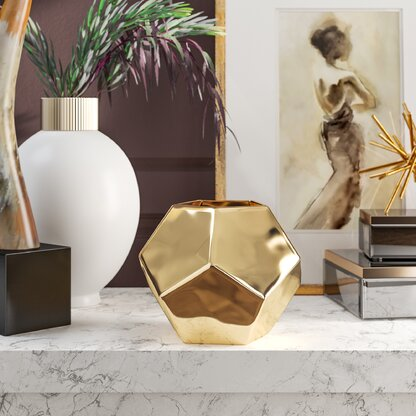 Luxury Gold Vases Perigold
