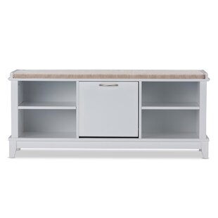 Baxton Studio Swiss Modern and Contemporary White Wooden Shoe Storage Seating Bench by Wholesale Interiors
