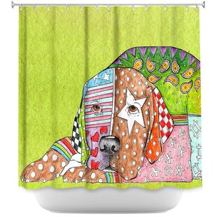 East Urban Home Labrador Retriever Dog Shower Curtain