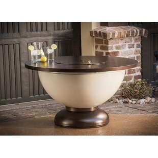 CC Products Enchanted Steel Natural Gas Fire Pit Table