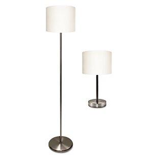 Ledu Corporation Ledu 2 Piece Table and Floor Lamp Set