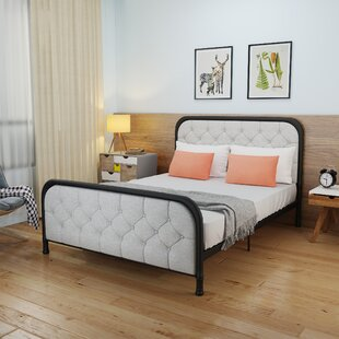 Latitude Run Krouse Industrial Tufted Queen Bed Frame