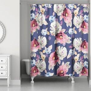 Arnott Floral Print Shower Curtain