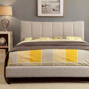 Inessa Contemporary Upholstered Panel Bed by Wrought Studio