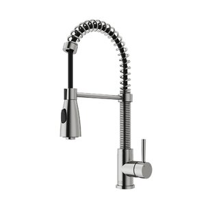 Review Brant Pull Down Single Handle Kitchen Faucet with Optional Soap Dispenser by VIGO