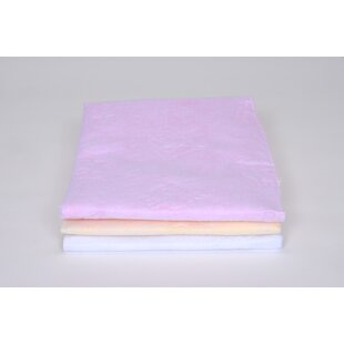 Quilted Fleece Pad In Pink / Yellow / White (Set Of 3) by Royal Heritage Home Design