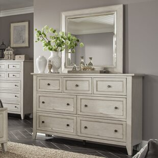 Stoughton 7 Drawer Dresser with Mirror