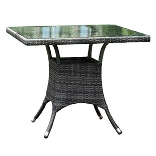 Saliba Glass Dining Table by Latitude Run