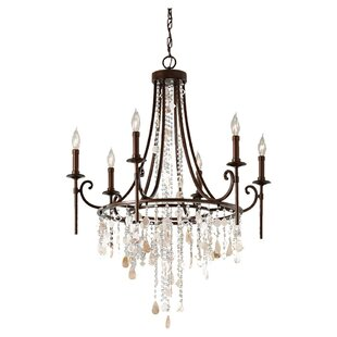Compare Cascade Sia Tier 6-Light Chandelier By Feiss