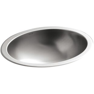 Compare prices Bachata Metal Oval Undermount Bathroom Sink By Kohler