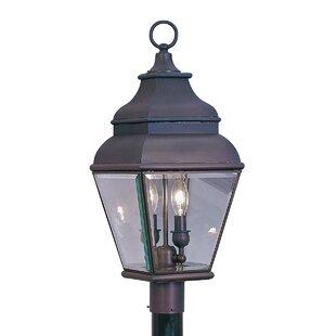 Three Posts Gwynn Outdoor Post Lantern in Bronze