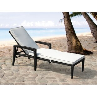 Garden Chaise Lounger with Cushion