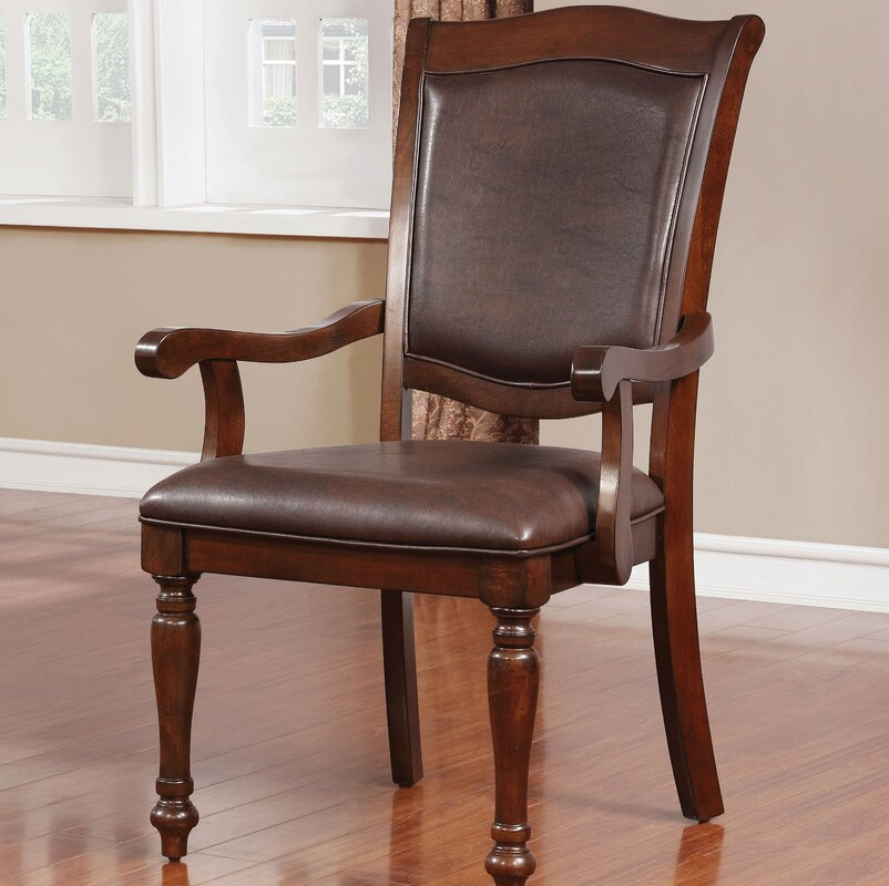 Alcott Hill Delray Traditional Upholstered Dining Chair (Set of 2)