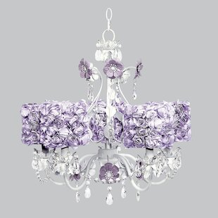 Flower Garden 5-Light Shaded Chandelier by Jubilee Collection