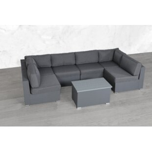 Fritsch Modular 7 Piece Sectional Seating Group with Cushions