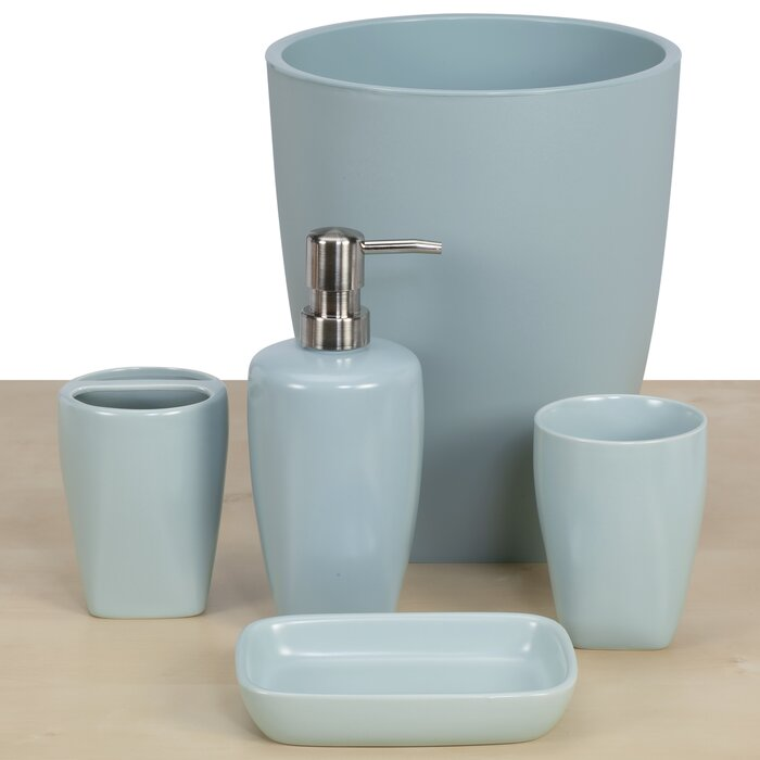 Hackneyville 5 Piece Bathroom Accessory Set