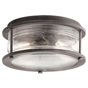 Compare West Elk 2-Light Outdoor Flush Mount By Loon Peak