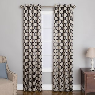 Aslyn Geometric Grommet Single Curtain Panel by Natco Home