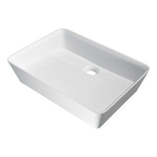 Savings Sharon Plastic Rectangular Vessel Bathroom Sink By ANZZI