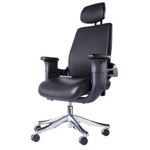 Weyauwega Genuine Leather Conference Chair