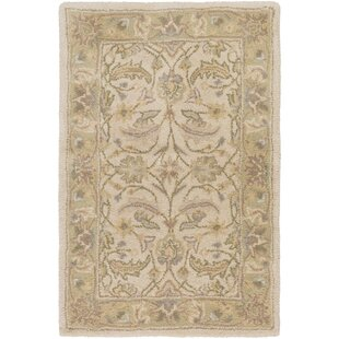 Topaz Taupe Hand-Woven Wool Area Rug ByWorld Menagerie