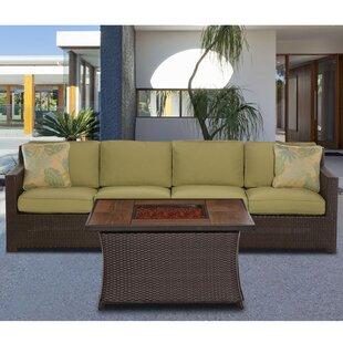 Bayou Breeze Kinney 3 Piece Sofa Set with Cushions