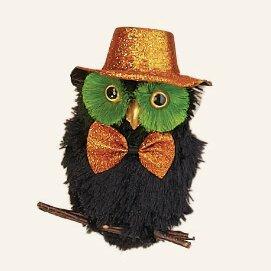 Hanging Halloween Owl (Set of 2)
