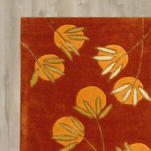 Felton Hand-Tufted Rust Area Rug