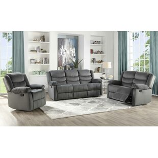 Act 3 Piece Suede Reclining Living Room Set