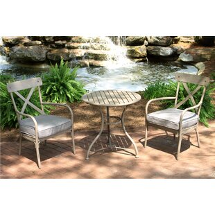 Gracie Oaks Giraud 3 Piece Bistro Set with Cushions (Set of 3)