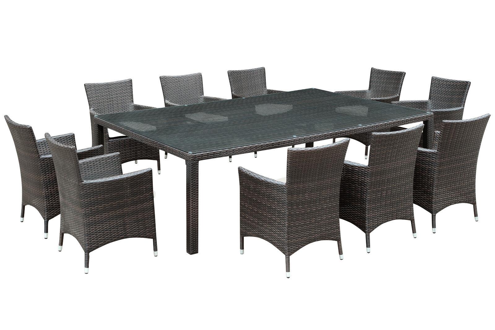 Modway Alfresco 11 Piece Dining Set With Cushions Wayfair