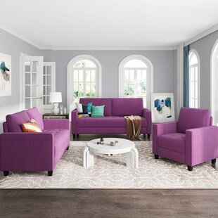 3 Piece Sofa Set Modern Style Couch Furniture by Latitude Run